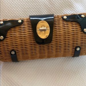Kate Spade whicker clutch